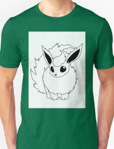 Black and White Flareon T-Shirt