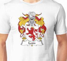 Leon Coat of Arms/Family Crest Unisex T-Shirt