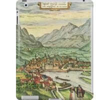 Innsbruck Vintage map.Geography Austria ,city view,building,political,Lithography,historical fashion,geo design,Cartography,Country,Science,history,urban iPad Case/Skin