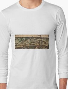 Ingolstadt Vintage map.Geography Germany ,city view,building,political,Lithography,historical fashion,geo design,Cartography,Country,Science,history,urban Long Sleeve T-Shirt