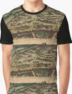 Ingolstadt Vintage map.Geography Germany ,city view,building,political,Lithography,historical fashion,geo design,Cartography,Country,Science,history,urban Graphic T-Shirt