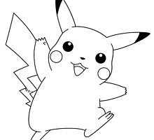 Black and White Pikachu 3 by Benjamin Warren