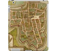 Ieper Vintage map.Geography Belgium ,city view,building,political,Lithography,historical fashion,geo design,Cartography,Country,Science,history,urban iPad Case/Skin