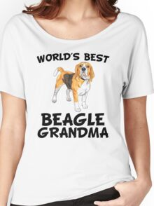 World's Best Beagle Grandma Women's Relaxed Fit T-Shirt