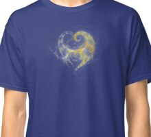 Fractal Heart Blue Classic T-Shirt