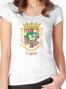 Lopez Shield of Puerto Rico Women's Fitted Scoop T-Shirt