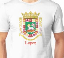 Lopez Shield of Puerto Rico Unisex T-Shirt