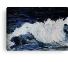 Ocean Waves Seascape Acrylic Painting On Paper Canvas Print