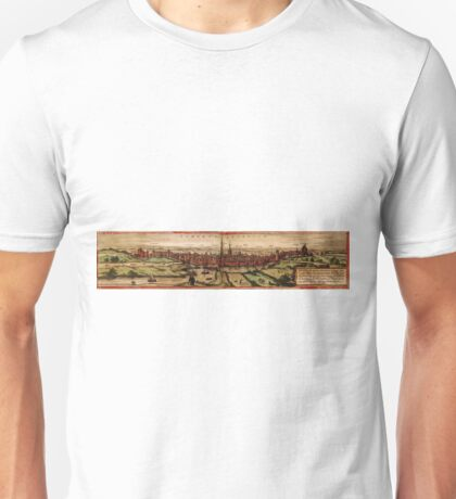 Hertogenbosch Vintage map.Geography Netherlands ,city view,building,political,Lithography,historical fashion,geo design,Cartography,Country,Science,history,urban Unisex T-Shirt