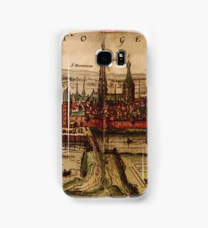 Hertogenbosch Vintage map.Geography Netherlands ,city view,building,political,Lithography,historical fashion,geo design,Cartography,Country,Science,history,urban Samsung Galaxy Case/Skin