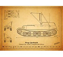 Berge-Ferdinand - Bergepanzer Tiger - First Productio Photographic Print