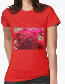 roses macro Womens Fitted T-Shirt
