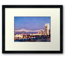 Bay Bridge Glow - San Francisco Framed Print