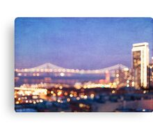 Bay Bridge Glow - San Francisco Canvas Print