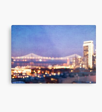 Bay Bridge Glow - San Francisco Metal Print
