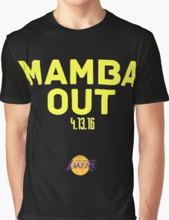 Kobe Bryant Mamba out Graphic T-Shirt