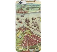 Helsingor Vintage map.Geography Denmark ,city view,building,political,Lithography,historical fashion,geo design,Cartography,Country,Science,history,urban iPhone Case/Skin
