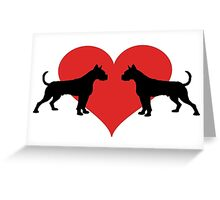 Boxer with heart Greeting Card