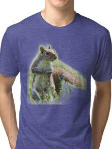Adorably Cute Squirrel Tri-blend T-Shirt