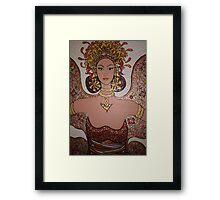 Tantri Artist in Bali's Jail / Artwork      Framed Print