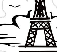 Le Eiffel Tour Sketch Sticker
