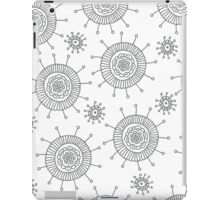 Simple doodle flower pattern. Seamless abstract background for coloring book or wallpaper. iPad Case/Skin