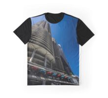 Looking up at Marina Towers Graphic T-Shirt