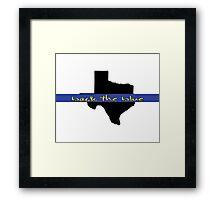 Back the blue Texas Framed Print