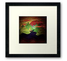 Mountains sea Framed Print