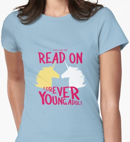 Keep Calm and Read On, FYA Womens Fitted T-Shirt