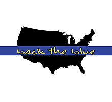 Back the Blue United States Photographic Print