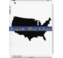 Back the Blue United States iPad Case/Skin