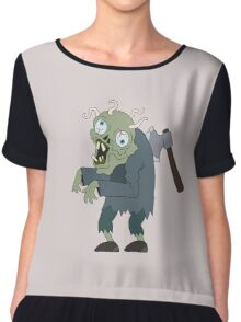 Zombie man  Chiffon Top