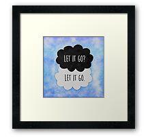 Let it go ♠ Frozen Framed Print