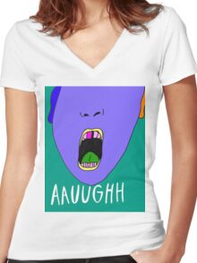 Aauughh Women's Fitted V-Neck T-Shirt