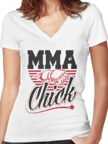 MMA Chick Women's Fitted V-Neck T-Shirt