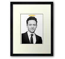 Tom Hiddleston with a halo  Framed Print