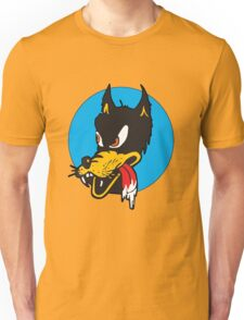 Rockabilly Cartoon Wolf Unisex T-Shirt