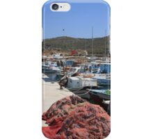 Red Fishing Net and Fishing Boats in Datca iPhone Case/Skin