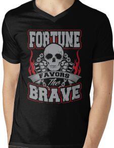 Fortune favors the brave Mens V-Neck T-Shirt