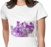 Lavender Sweet Peas Womens Fitted T-Shirt