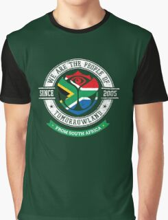 People of Tomorrowland Flags logo Badge - South Africa - South African - afrique du sud - africa Graphic T-Shirt