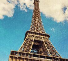 Eiffel Tower Blue Sticker