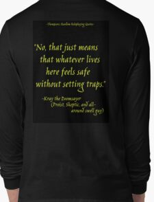 Roleplay Quotes - On Traps Long Sleeve T-Shirt