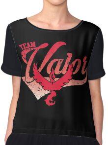 Pokemon Go - Team Valor Distressed Athletic Logo Chiffon Top