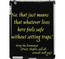 Roleplay Quotes - On Traps iPad Case/Skin