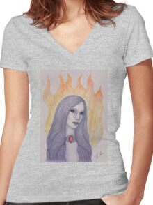 The Red Woman Women's Fitted V-Neck T-Shirt