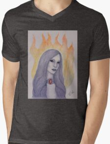 The Red Woman Mens V-Neck T-Shirt