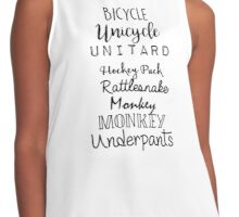 Gilmore Girls - Bicycle Unicycle Contrast Tank