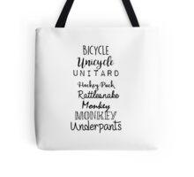 Gilmore Girls - Bicycle Unicycle Tote Bag